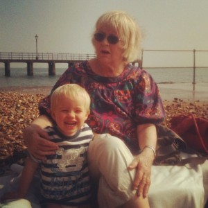 Happy days with Grandma at Hot Walls, Portsmouth.