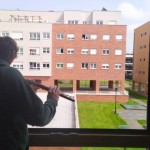 A friend serenades his neighbours on Saturday morning